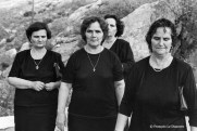 Ref GREEK ISLANDS 17 – Four widows returning from the cemetery, Hydra island