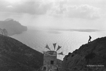 Ref GREEK ISLANDS 19 – Functioning windmill in the village of Olympos, island of Karpathos