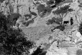 Ref GREEK ISLANDS 20 – Olympos Greek Orthodox pope on his way to a mountain chapel, Karpathos island