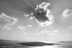 Ref GREEK ISLANDS 5 – Cloud over Santorini island