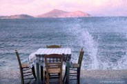 REF BLUE GREECE 13 – Table and wave, Naxos island