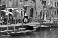 Ref VENICE 19 – Nuns walking along a canal with schoolgirls