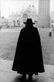 Ref VENICE 2 – Man in black cape in front of Saint Mark's Basilica