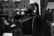 Ref VENICE 6 – A representation of Death with little girl at a window, Venice carnival
