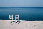 Ref / BLUE GREECE 9 - Two chairs, Lesbos island
