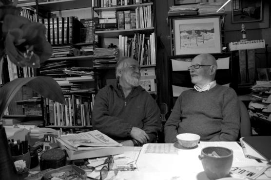 François Le Diascorn et Willy Ronis © Nancy Duncan